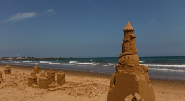 Atelier de construction de chateaux de sable