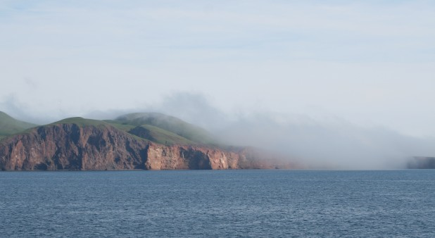 Entry Island, the fog patch