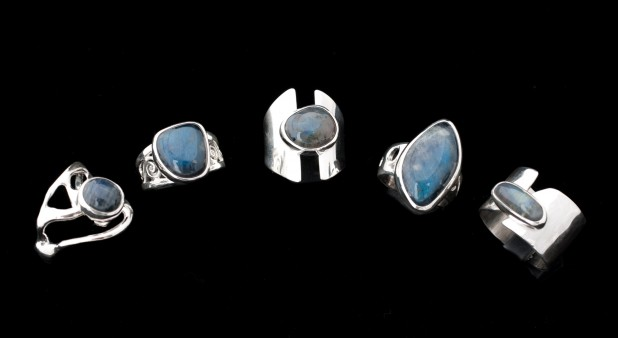 ring labradorites of the island and silver