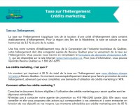 Modalité d'inscription aux crédits marketing