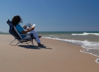 Sit back and relax, Pointe-aux-Loups beach