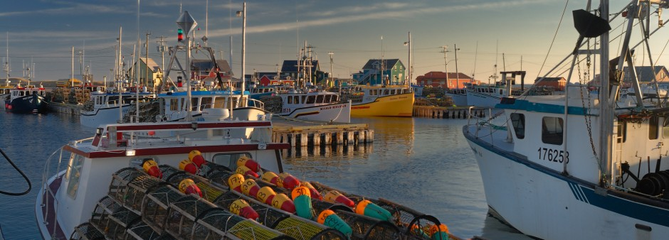 Fishing port of Grande-Entrée, Îles de la Madeleine