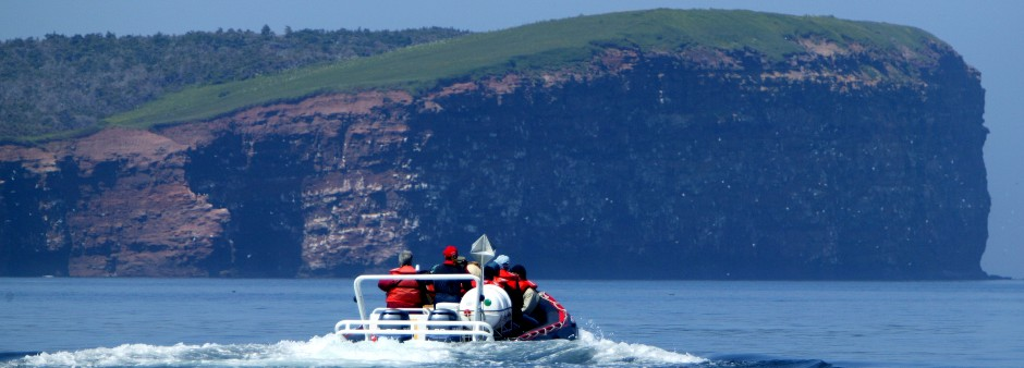 Boat excursion around the Îles de la Madeleine