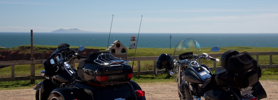 Motorcycle touring in the Îles de la Madeleine
