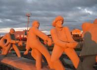 Îles de la madeleine, site de la côte, statue des pêcheurs
