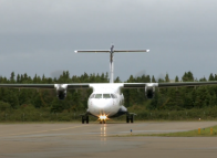 A plane in the Magdalen Islands